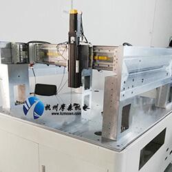 摩森点胶直线模组顺利完成组装测试发货