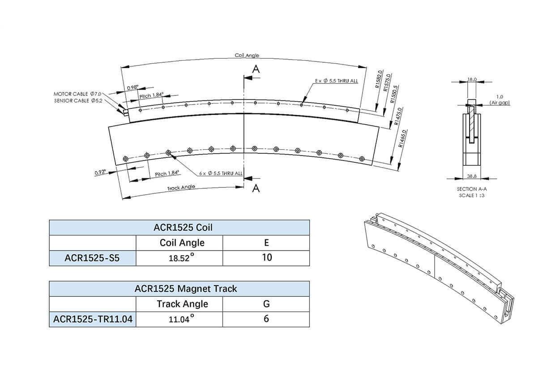 雅科贝思弧形直线电机ACR系列
