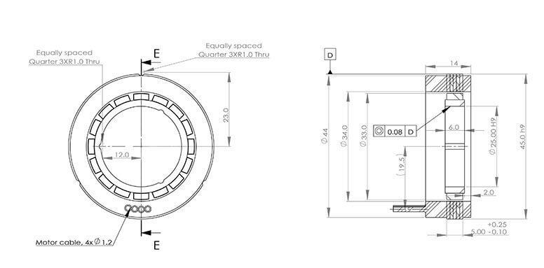 ADR-F系列无框直驱电机